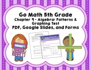 Algebra Patterns And Graphing Test Go Math 5th Grade Chapter 9