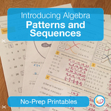 Algebra Patterns and Sequences Worksheets