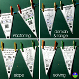 Algebra Pennants mini bundle