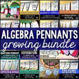Algebra Math Pennant Activities Bundle