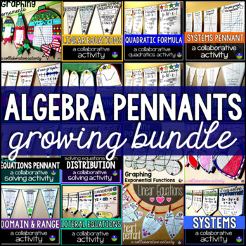 Algebra Pennants Bundle