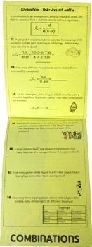 Algebra Permutations and Combinations Flip Book Foldable