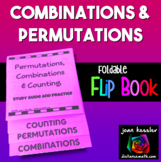 Permutations and Combinations Flip Book Foldable Statistics