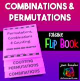 Permutations and Combinations Flip Book Foldable Statistics