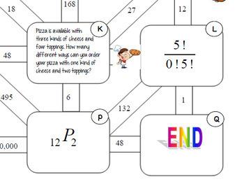 Algebra Permutations Combinations Fun Maze with GOOGLE Slides™