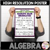 "Algebra Poster: Absolute Value Inequalities ""Or"""
