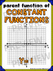 Algebra Poster: Constant Parent Function