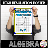 Algebra Poster: Exponential Parent Function