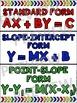 Algebra Poster: Linear Forms (Standard, Slope-Intercept and Point-Slope)