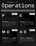 Algebra Order of Operations Poster PEMDAS Poster