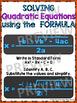 Algebra Poster: Quadratic Formula (Quadratic Functions)