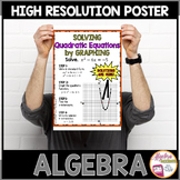 Algebra Poster Quadratic Functions   Solving by Graphing