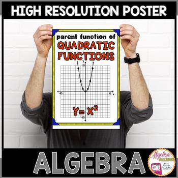 Algebra Poster: Quadratic Parent Function