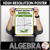 Algebra Poster: Radical Parent Function