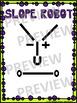 """Algebra Poster: Slope """"Robot"""""""