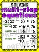 Algebra Poster: Solving Multi Step Equations