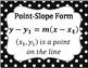 Algebra Posters Black and White Polka Dot