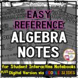 High School Math Posters / Algebra 1 Anchor Charts plus Ma