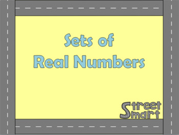 Algebra PowerPoint - Sets of Real Numbers