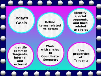 geometry powerpoint tangents to circles with guided notes tpt rh teacherspayteachers com