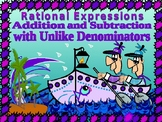 Algebra Pp:Addition and Subtraction of rational expressions /Unlike Denominators