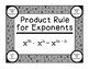 Algebra Practice Product Rule for Exponents Math PDF Printable