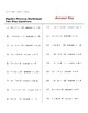 Algebra Practice Worksheet - Two Step Equations (with Answer Key)