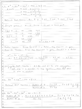 Algebra, Precalculus -- Polynomial functions and their many theorems
