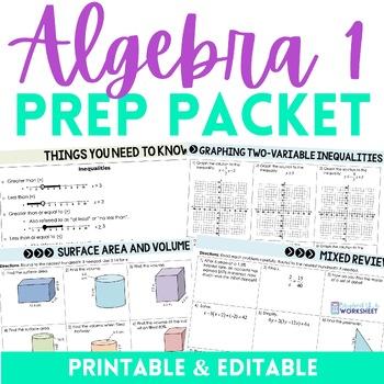 Algebra Prep Summer Packet