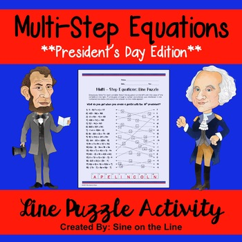 Algebra President's Day Activity: Multi-Step Equations