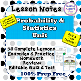 Algebra Probability & Statistics 10 Lessons Notes Homework