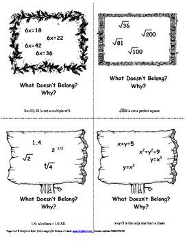 Algebra Problem Boxes