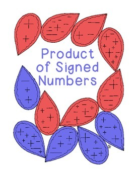 Algebra Products of Signed Numbers PDF Printable Critical Thinking