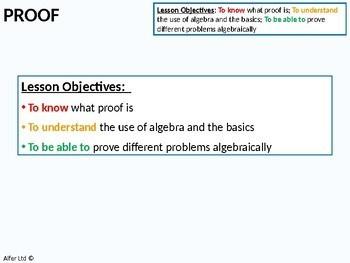 Algebra: Proof (+ questions)