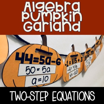 Algebra Pumpkin Garland - Two-Step Equations