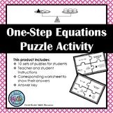 Algebra Puzzles - 1-step Equations with models