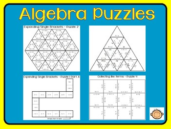 math worksheet : algebra puzzles by eduguru  teachers pay teachers : Algebra Puzzles