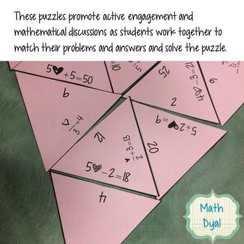 Algebra Puzzles Bundle