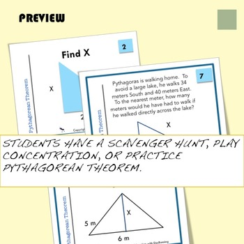 Pythagorean Theorem Task Card Activity