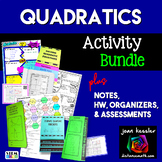 Algebra Quadratic Equations Activity Bundle
