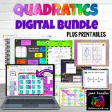 Algebra Quadratic Equations DIGITAL Activity Bundle with G