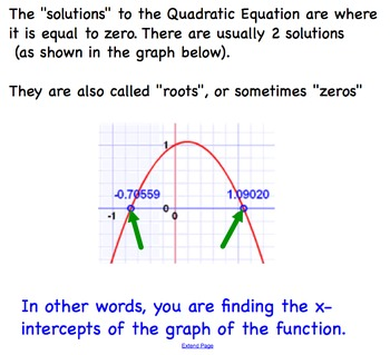 Quadratic Equations Using Quadratic Formula