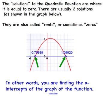 Quadratic Equations Using Quadratic Formula