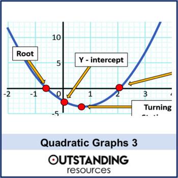 Algebra: Quadratic Graphs 3 - Further Problems (AS Level) + worksheet