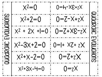 Algebra Quadratics Interactive Notebook Unit