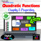 Graphs and Properties of Quadratics Digital Activity   Distance Learning