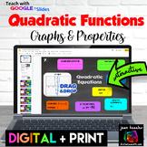 Graphs and Key Properties of Quadratics Digital Activity