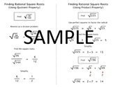 Algebra Quick Notes: Find Rational Square Roots (Quotient & Product Property)