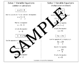 Algebra Quick Notes: Solve 1 Variable Equations (multiple operations)