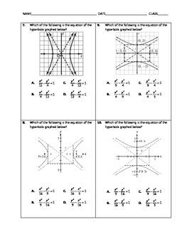 Algebra Quick Quiz - Hyperbolas